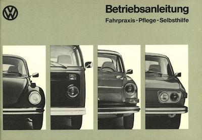 VW Fahrpraxis Pflege Selbsthilfe Bedienungsanleitung Teil 2 1973