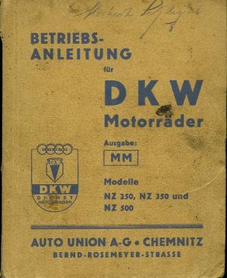 DKW NZ 250 350 500 Bedienungsanleitung 7.1939