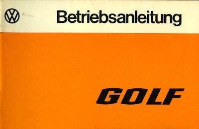VW Golf 1 Bedienungsanleitung 1977