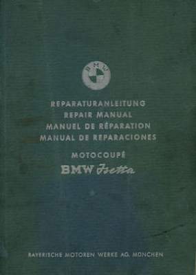 BMW Isetta 250 300 Reparaturanleitung 1961