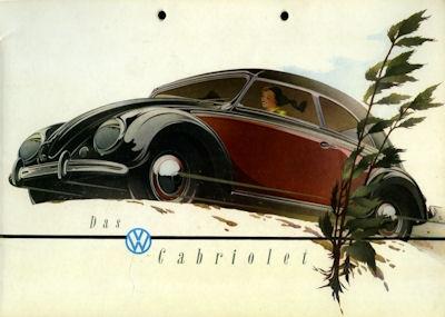 VW Käfer Cabriolet Prospekt ca. 1950