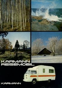 VW T 2 Karmann Reisemobil Prospekt 1970er Jahre