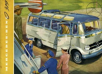 Mercedes-Benz O 319 Prospekt ca. 1955