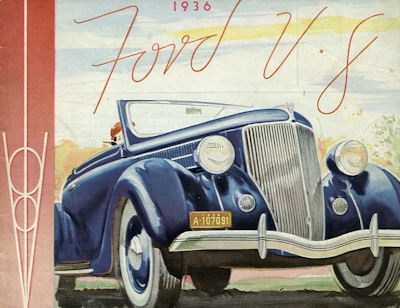 Ford V 8 Prospekt 1936