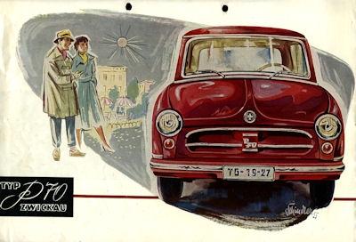 Trabant P 70 Zwickau Prospekt 1955 nl