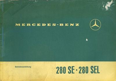 Mercedes-Benz 280 SE SEL Bedienungsanleitung 6.1970