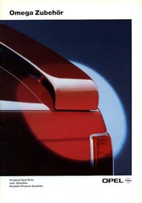 Opel Omega Zubehör Prospekt 1992