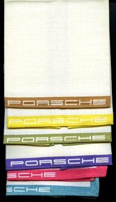 6 originale Porsche Stoff-Servietten 1950er Jahre