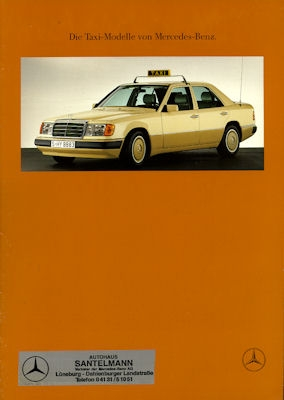 Mercedes-Benz Taxi Modelle Prospekt 8.1990