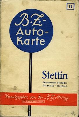 BZ Karte 13 Stettin 1930er Jahre