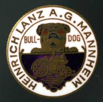 Original Anstecker Lanz / Mannheim 1920er Jahre
