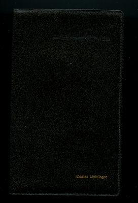 Original Porsche Hülle für Papiere schwarz 1970er Jahre