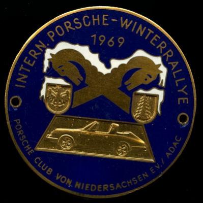 Plakette Porsche Winterrallye 1969