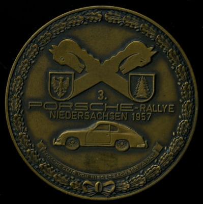 Plakette 3. Porsche Rallye Niedersachsen 1957 0