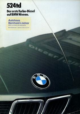 BMW 524 td Prospekt 1985