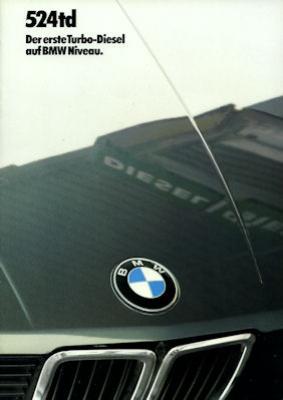 BMW 524 td Prospekt 1984