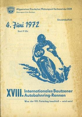 Programm 18. Bautzener Autobahnring 4.6.1972