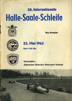 Programm Halle-Saale-Schleife 23.5.1965