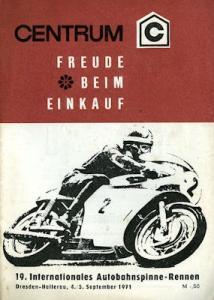 Programm Autobahnspinne Dresden 5.9.1971