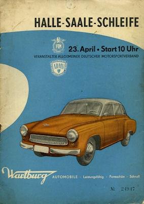 Programm Halle-Saale-Schleife 23.4.1961