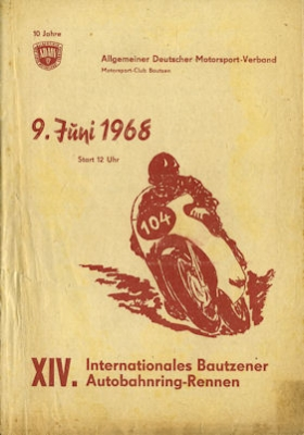 Programm 14. Bautzener Autobahnring 9.6.1968
