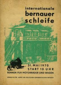 Programm 15. Bernauer Schleife 31.5.1970