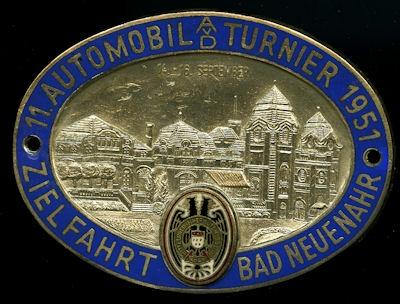 Plakette ADAC Bad Neuenahr 1951
