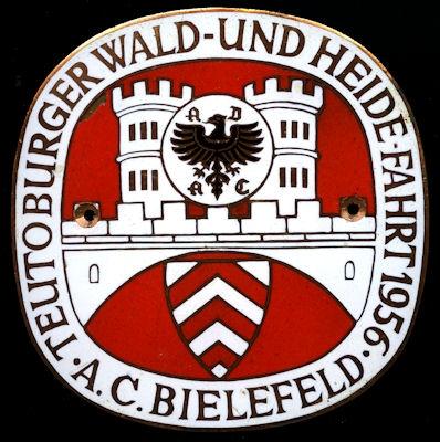 Plakette ADAC Bielefeld 1956