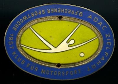 Plakette ADAC Frechen 1957