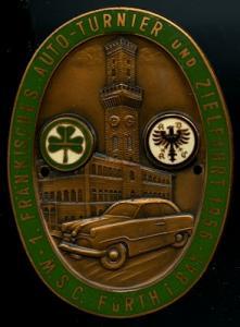 Plakette ADAC Fürth 1956