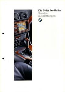 BMW 5er Sonderausstattung Prospekt 1996
