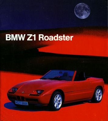 BMW Z 1 Roadster internes Prospekt 9.1987