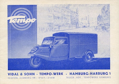 Tempo A 400 Prospekt 7.1948