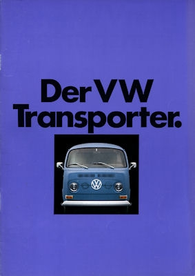 VW T 2 Transporter Prospekt 8.1971