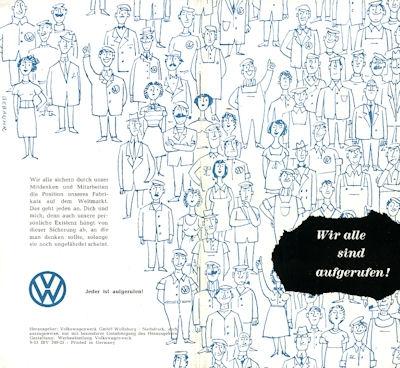 VW Vorschläge / Prämien Broschüre 9.1953