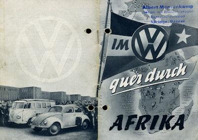 Im VW quer durch Afrika Broschüre ca. 1951