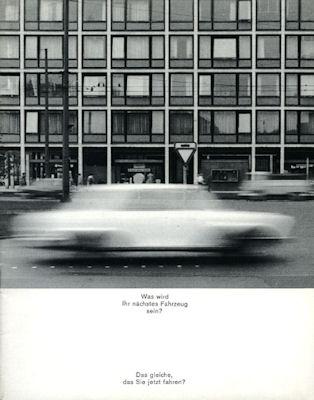 VW Käfer Prospekt 1964