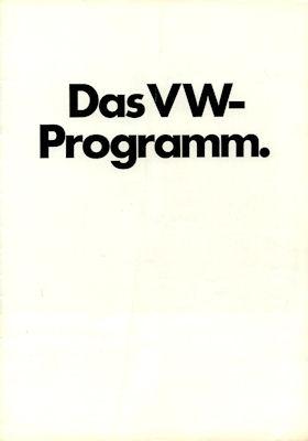 VW Programm 8.1972