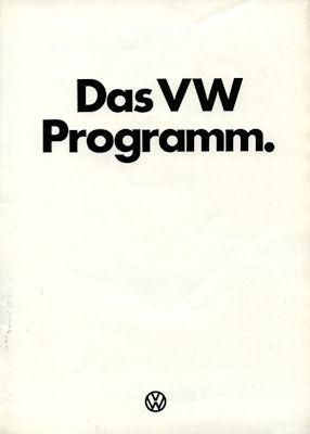 VW Programm 8.1974