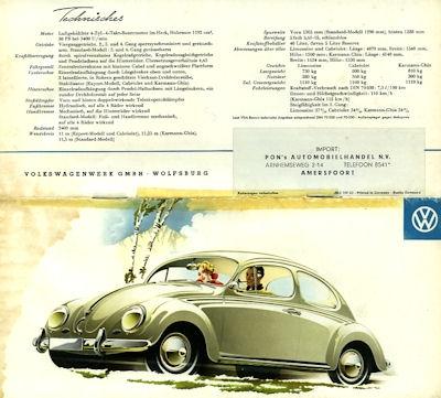 VW Programm ca. 1958