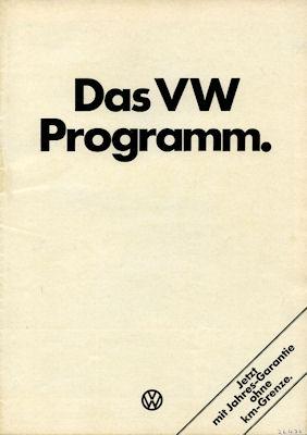 VW Programm 8.1975