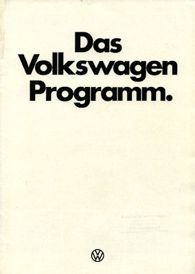 VW Programm 8.1976
