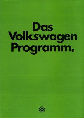 VW Programm 1.1978