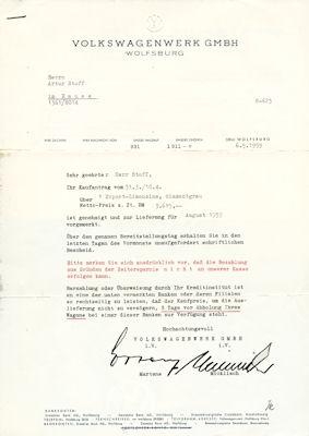VW Brief 1959