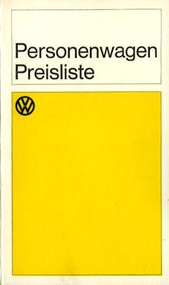 VW Preisliste 10.1966