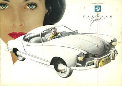 VW Karmann Ghia Prospekt ca. 1958 e
