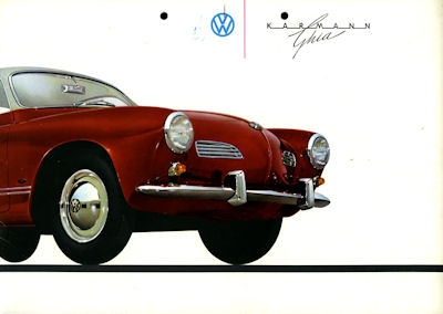 VW Karmann Ghia Prospekt ca. 1961