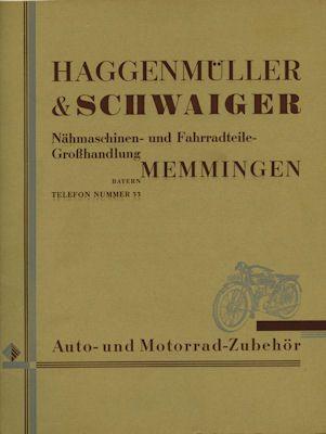 Haggenmüller & Schwaiger / Memmingen Katalog ca. 1927