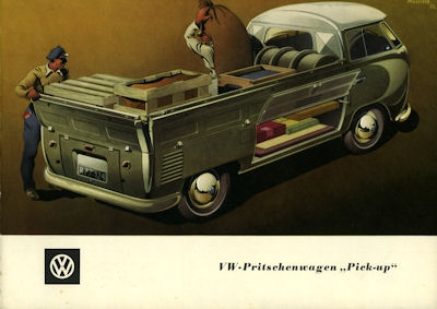VW Pritschenwagen Pick up Prospekt ca. 1951