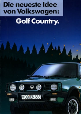 VW Golf 2 Country Prospekt 1990